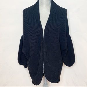 Anthropologie Moth Ribbed Open Cardigan
